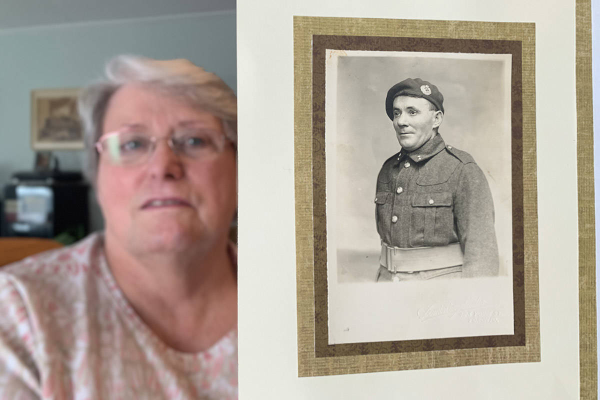 Shirley Daily of Chilliwack with a photo of her grandfather, Robert Munday who was one of the 100,000 British Home Children shipped from England to Canada between 1869 and 1948. (Paul Henderson/ The Progress)