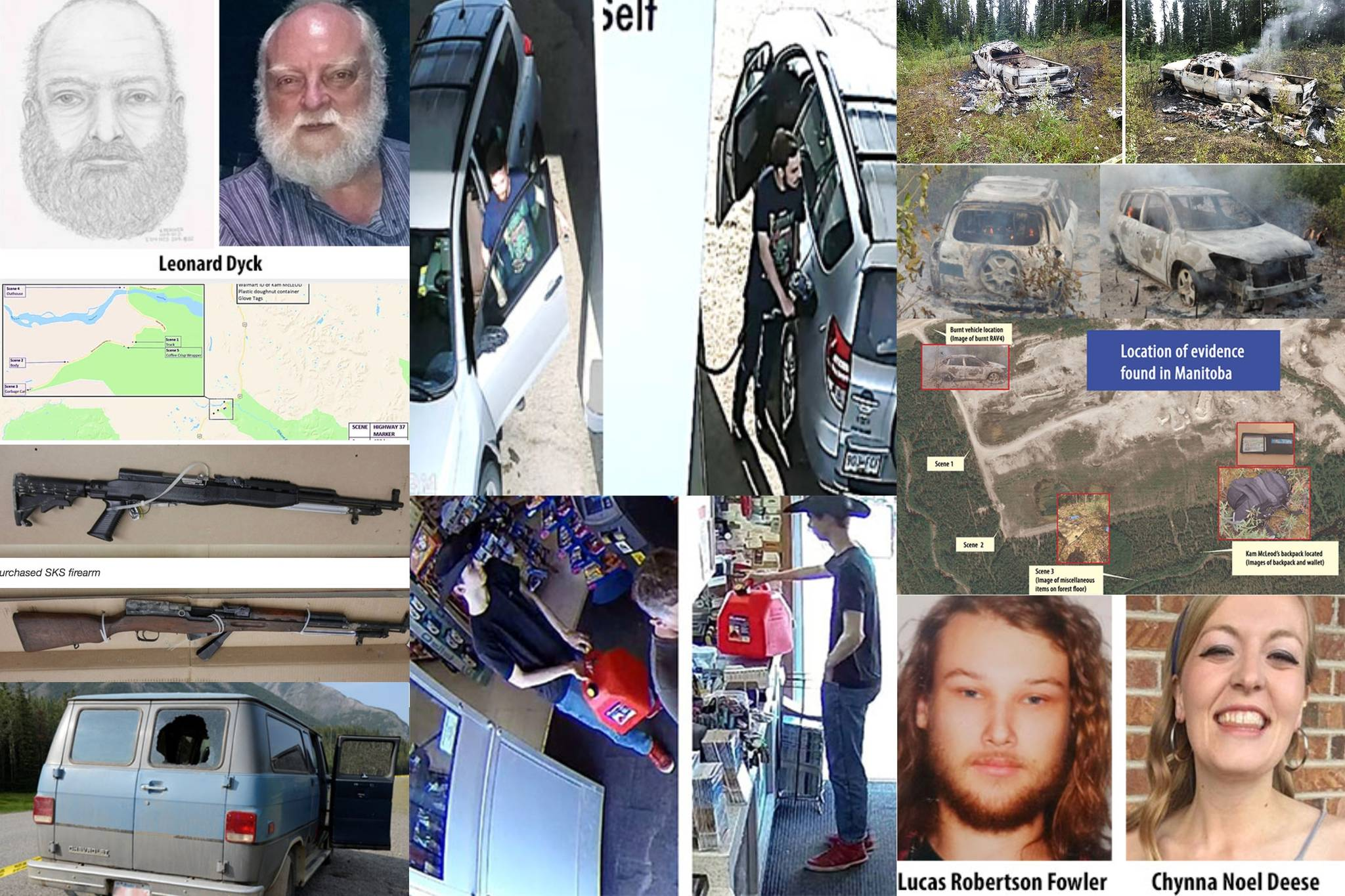 A recap of the police investigation into three northern B.C. homicides and nationwide hunt for Kam McLeod and Bryer Schmegelsky. (RCMP police handouts/Black Press Media)