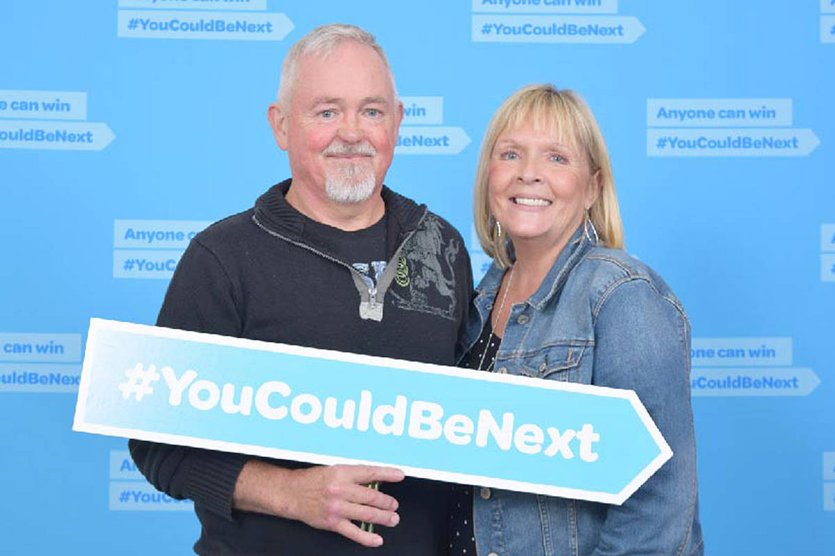 Rhonda and Steven Evjenth discovered a forgotten lottery ticket was worth $250,000. (BCLC photo)