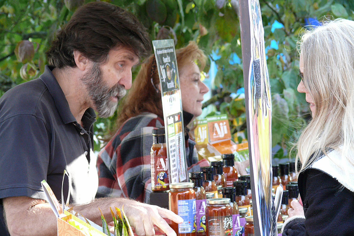 There were more vendors at the second Fort Langley Vegan Market held at the community hall on Saturday, Sept. 28. (Dan Ferguson/Langley Advance Times)
