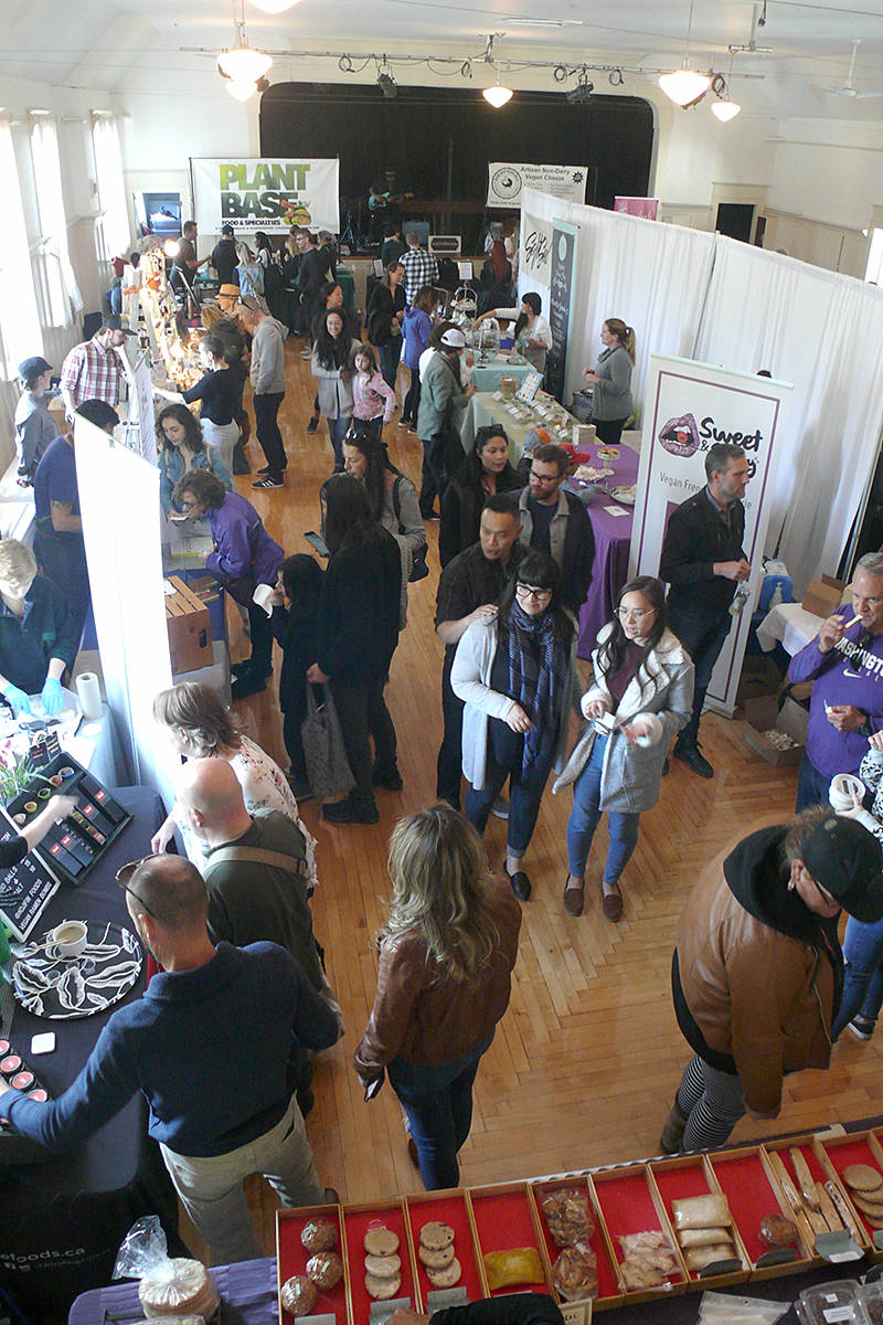 Changes to the layout reduced congestion at the second Fort Langley Vegan Market held at the community hall on Saturday, Sept. 28. (Dan Ferguson/Langley Advance Times)