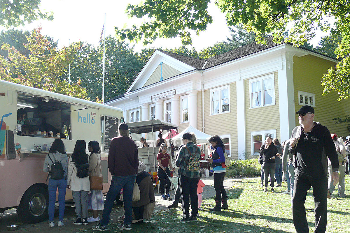 Attendance was up at the second Fort Langley Vegan Market at the community hall on Saturday, Sept. 28. (Dan Ferguson/Langley Advance Times)