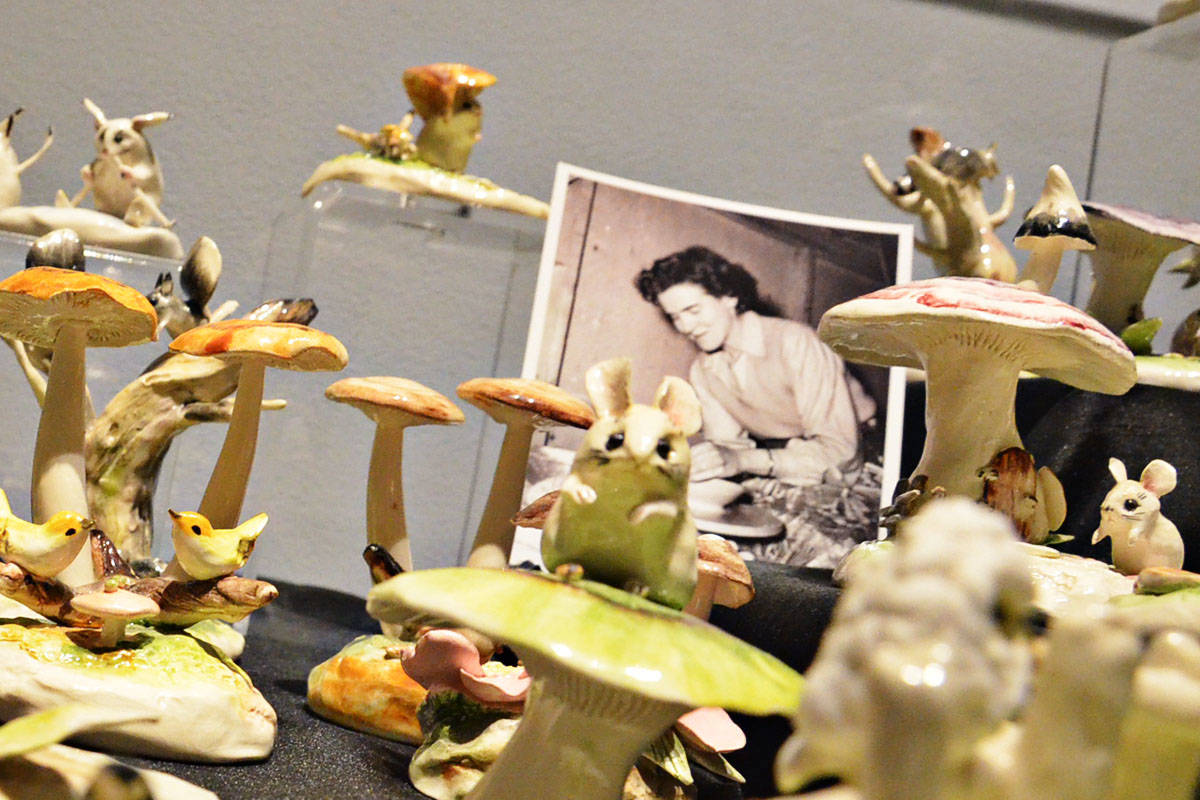 Mollie Carter taught at UBC in the 1940s and 1950s and also made pieces for HBC. Her fanciful nature scenes, marked Molla - Vancouver BC – are now highly prized by collectors such as Langley's Kathy Blum. (Heather Colpitts/Langley Advance Times)
