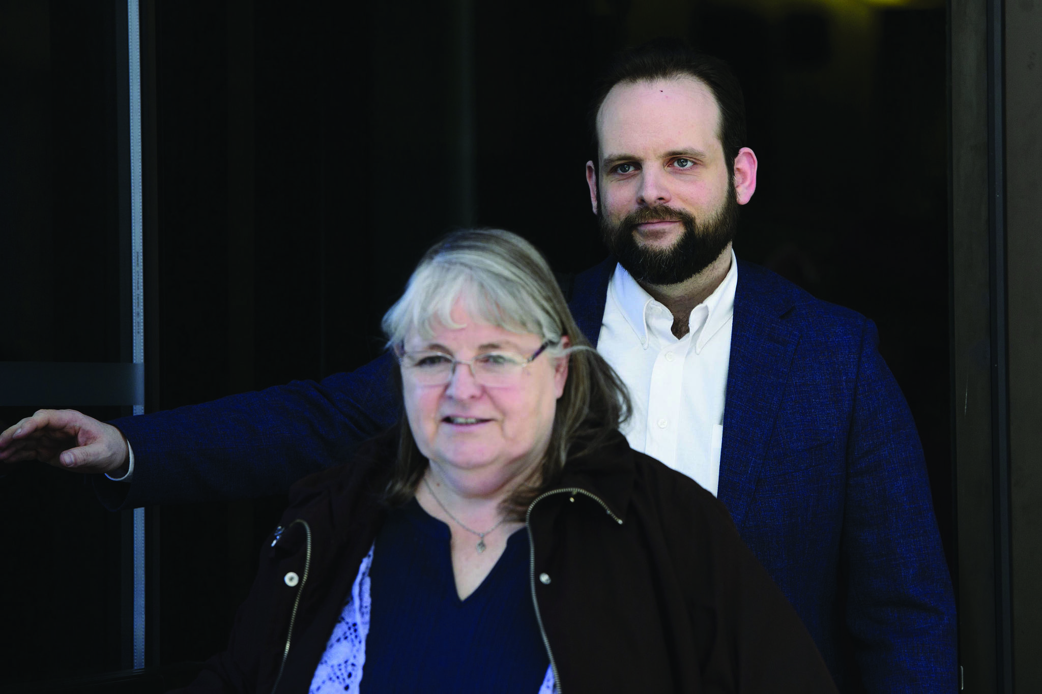 Joshua Boyle leaves court with his mother Linda Boyle in Ottawa on Wednesday, March 27, 2019. THE CANADIAN PRESS/Sean Kilpatrick