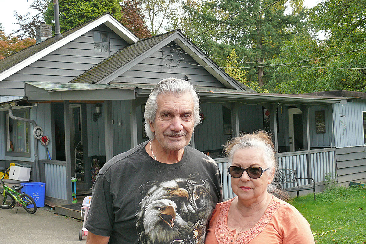 Dwain and Lillian Seymour discovered their Murrayville home was listed for rent without their knowledge as part of a scam. (Dan Ferguson/Langley Advance Times)