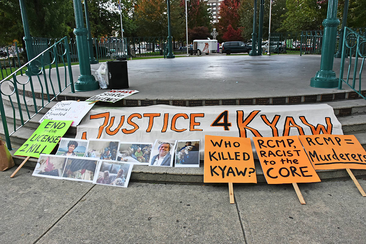 Rally for man killed by RCMP in Maple Ridge