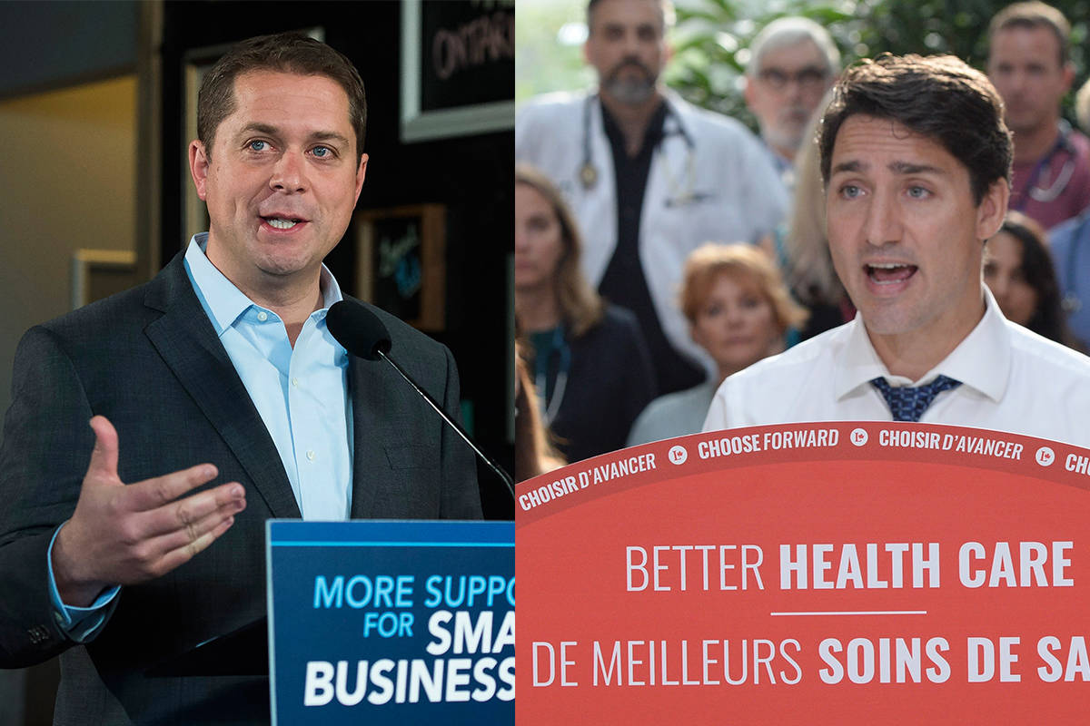 Conservative Leader Andrew Scheer and Liberal Leader Justin Trudeau. (The Canadian Press)