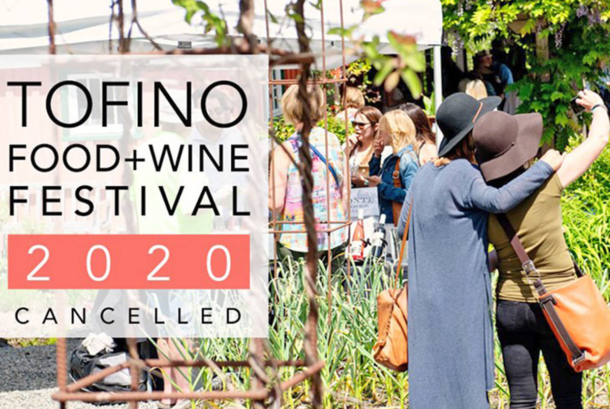 The 2020 Tofino Food and Wine Festival has been cancelled. (Photo - Tofino Food and Wine Festival Facebook)
