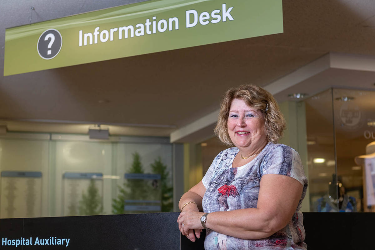 A monthly donor to Langley Memorial Hospital and a regular volunteer with the hospital auxiliary, Rosemarie Reed gives her time and money to make a difference to an organization central to her family and community.