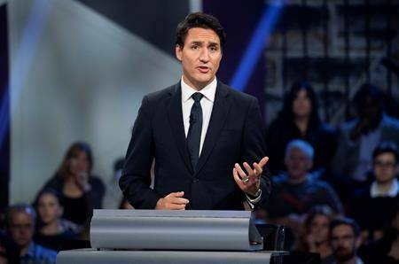 Liberal leader Justin Trudeau responds to a question during the Federal leaders debate in Gatineau, Que. on Monday October 7, 2019. THE CANADIAN PRESS/Sean Kilpatrick