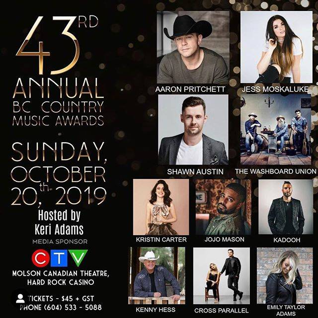 Langley artists lead B.C. Country Music Award nominations