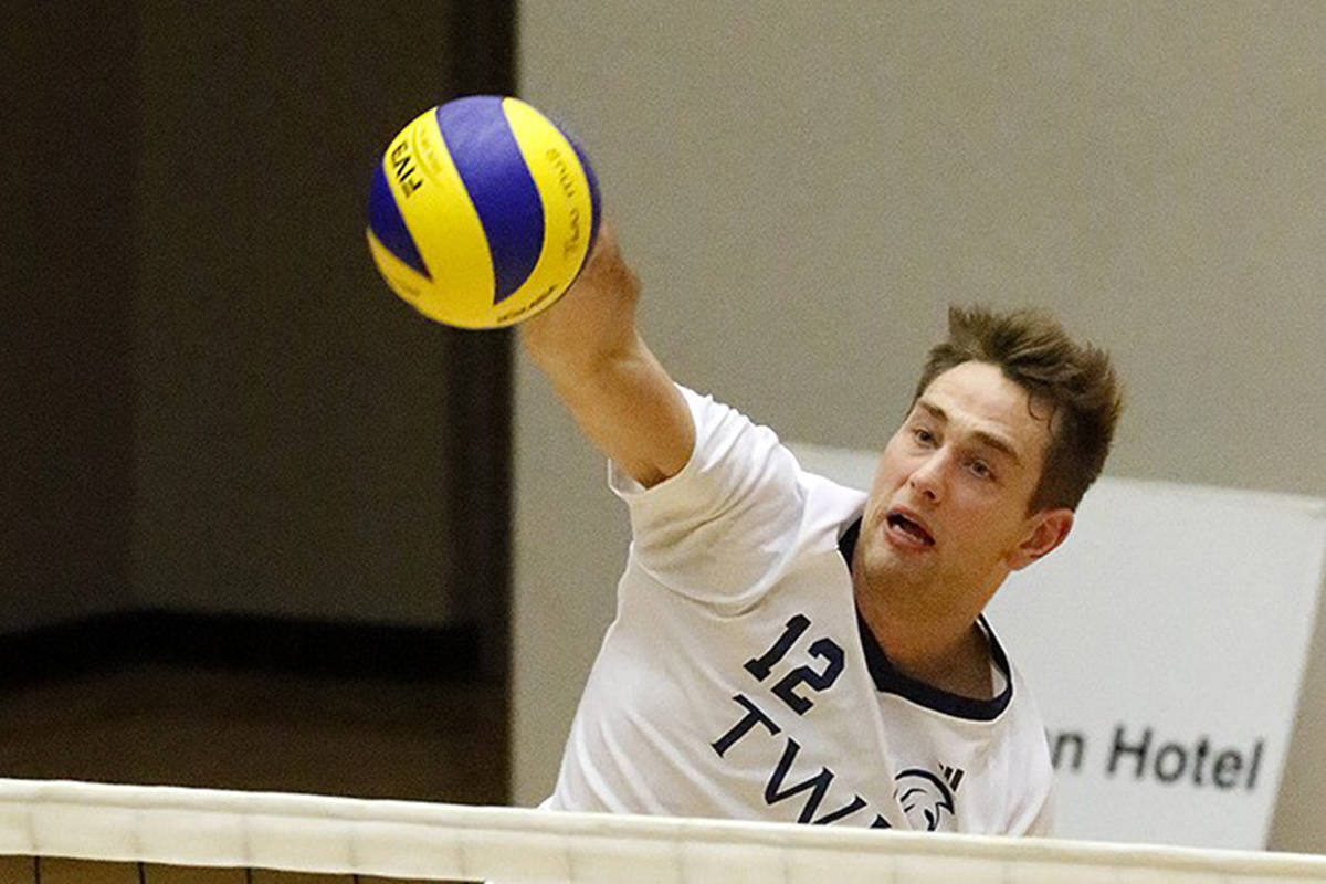 Lucas Van Berkel, a former TWU Spartan, scored 18 points for Canada on the way to a 3-2 win over Tunisia on Wednesady, Oct. 8 at the Fédération Internationale de Volleyball (FIVB) competition. (File)