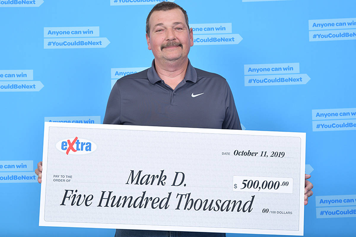Will Mark Denton retire after winning half a million dollars? He's not sure yet. (Special to the Langley Advance Times)