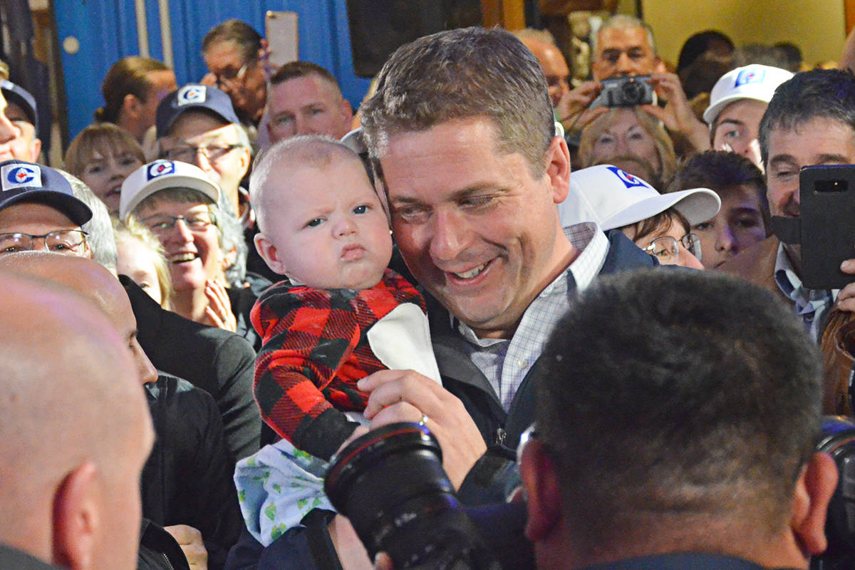 Conservative leader rallies supporters in Langley