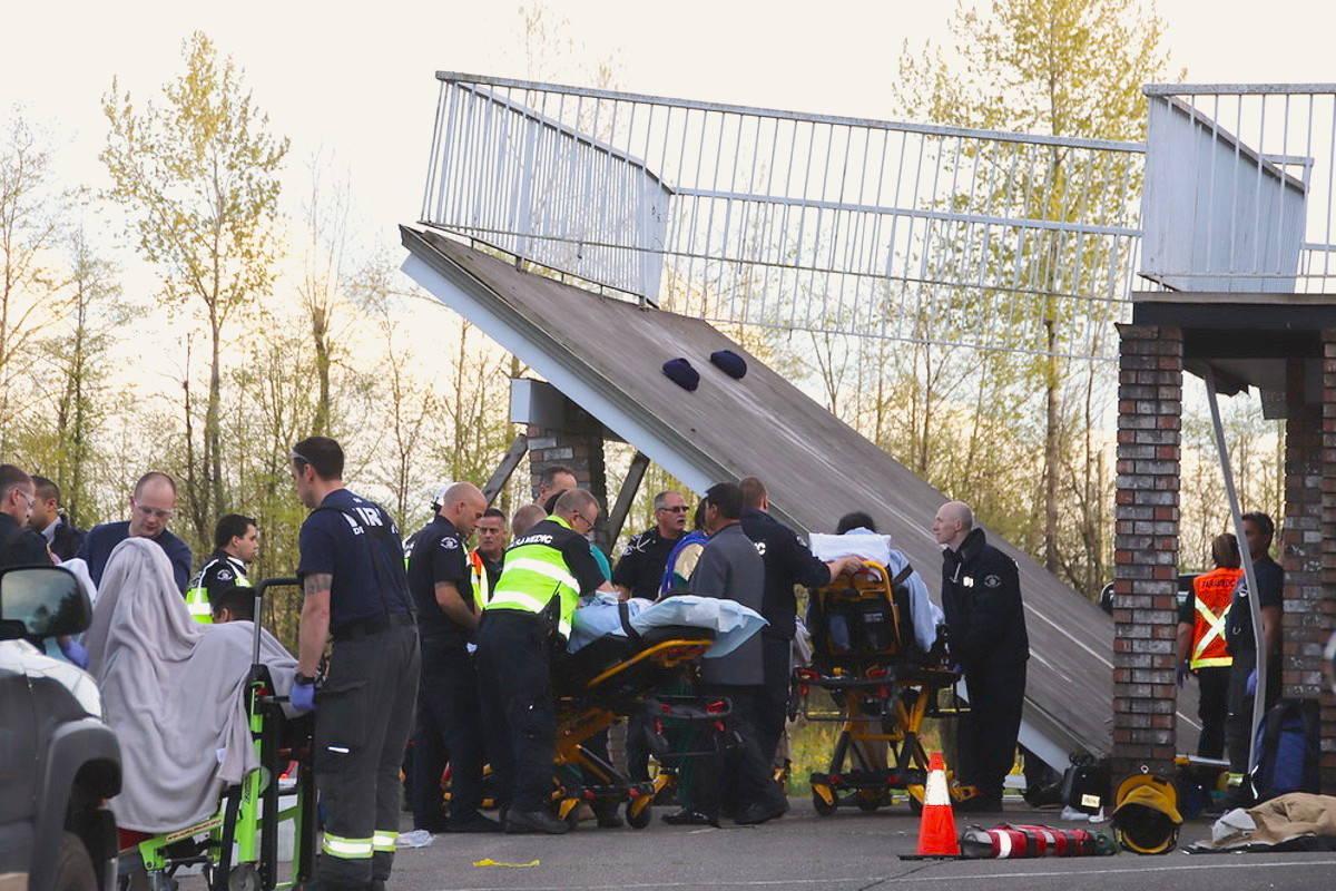 Dozens were were injured when a balcony collapsed during a wedding celebration in Aldergrove in April. (Black Press Media file)