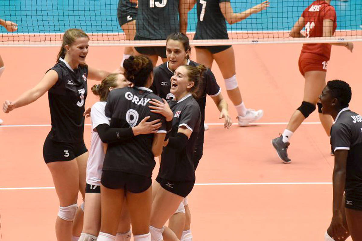 Canada reached the semifinals and claimed a spot in the NORCECA Olympic qualifier next January after defeating Mexico 3-1 on Friday.
