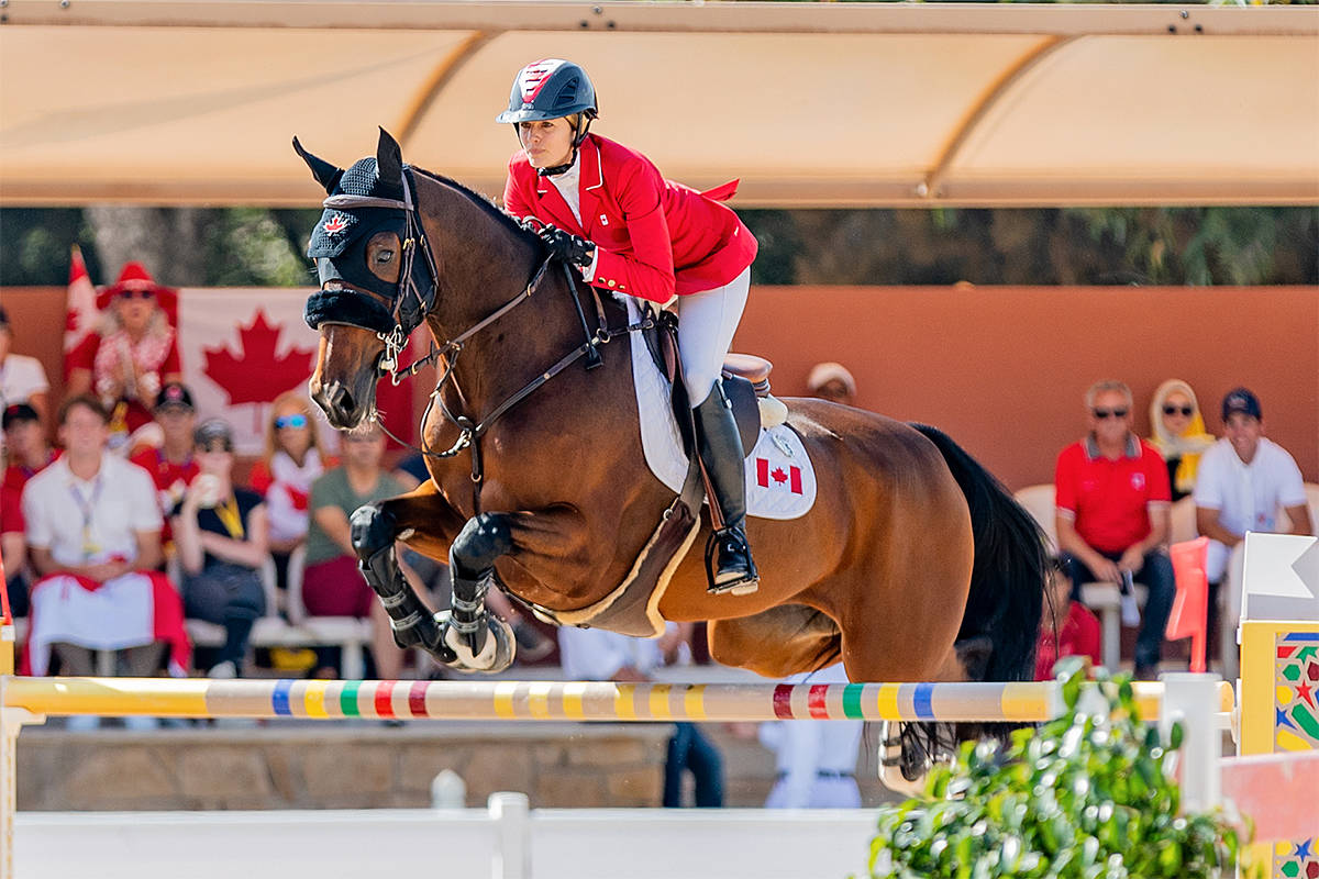 Tiffany Foster of Langley, and Figor, owned by Artisan Farms LLC, rode as part of the Canadian Show Jumping Team in the Nations' Cup in Morocco (R&B Presse/P. Renauldon)