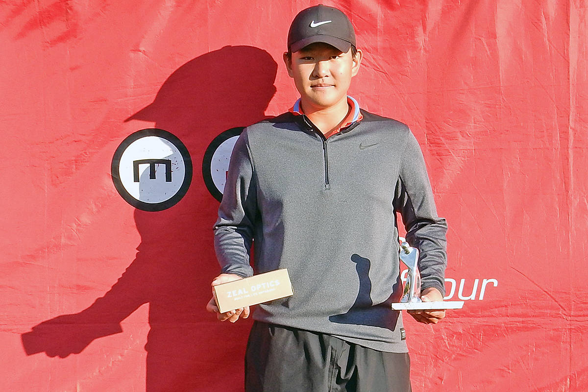 Langley golfer Danny Im won his third consecutive MJT tournament of the season as the Maple Leaf Junior Golf Tour held its final 2019 MJT Ford Series event of the year on Saturday, Oct. 12 and Sunday, Oct. 13 at Mayfair Lakes Golf and Country Club in Richmond in the Juvenile Boys division. (Supplied)