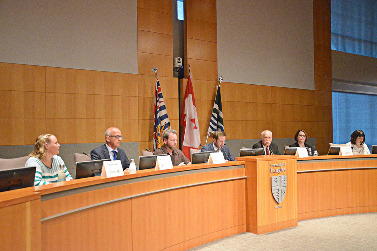 The Langley-Aldergrove candidates met in an all-candidates forum earlier during the campaign. (Langley Advance Times files)