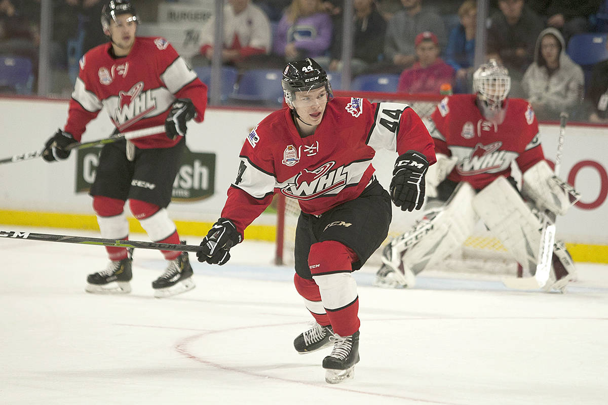 Vancouver Giants defenceman Bowen Byram will represent the WHL in the 2019 CIBC Canada-Russia Series. (File photo by Chris Relke)