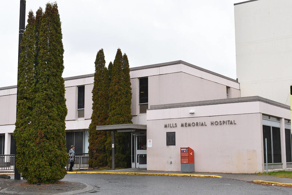 Mills Memorial Hospital in Terrace. (Natalia Balcerzak/Terrace Standard)