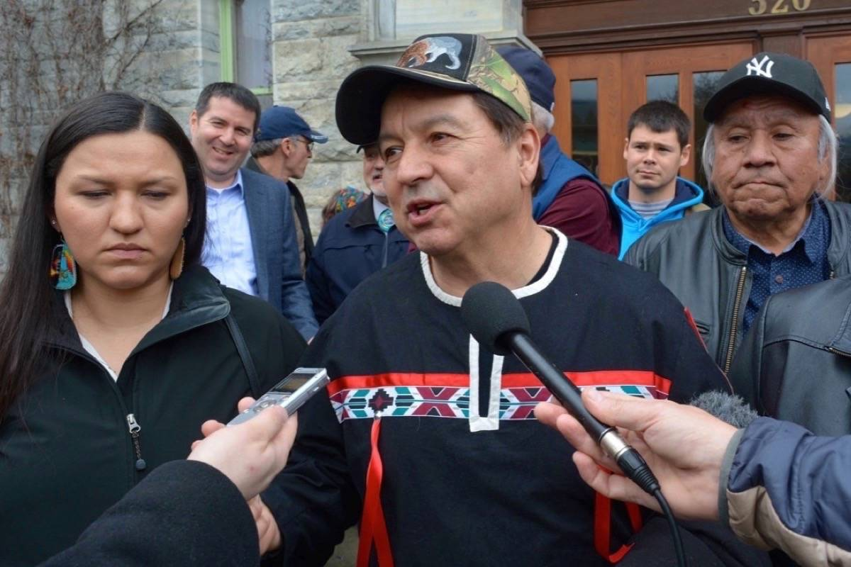 Sinixt hunter Richard Desautel at the Nelson courthouse in 2017. Photo: Bill Metcalfe