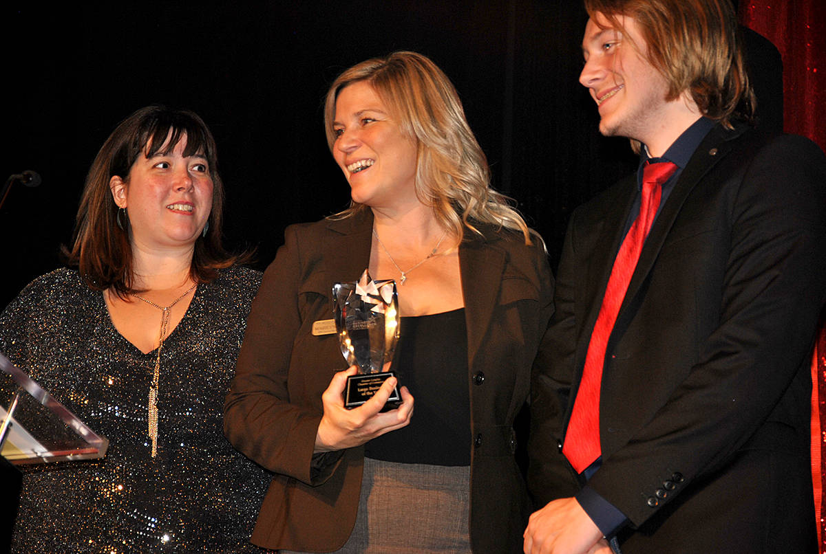 Several members of the Froese family were in attendance to accepted an award on behalf of JD Farms Specialty Turkey, during the Greater Langley Chamber of Commerce 23rd annual Business Excellence Awards at the Cascades Casino on Thursday, Oct. 24. (Roxanne Hooper/Langley Advance Times)