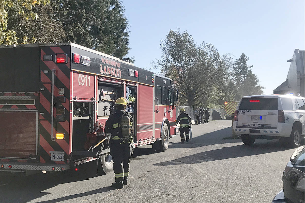 Fire crews were dispatched to Aldergrove Community Secondary School on Friday, Oct. 25. (Sarah Grochowki/Aldergrove Star)