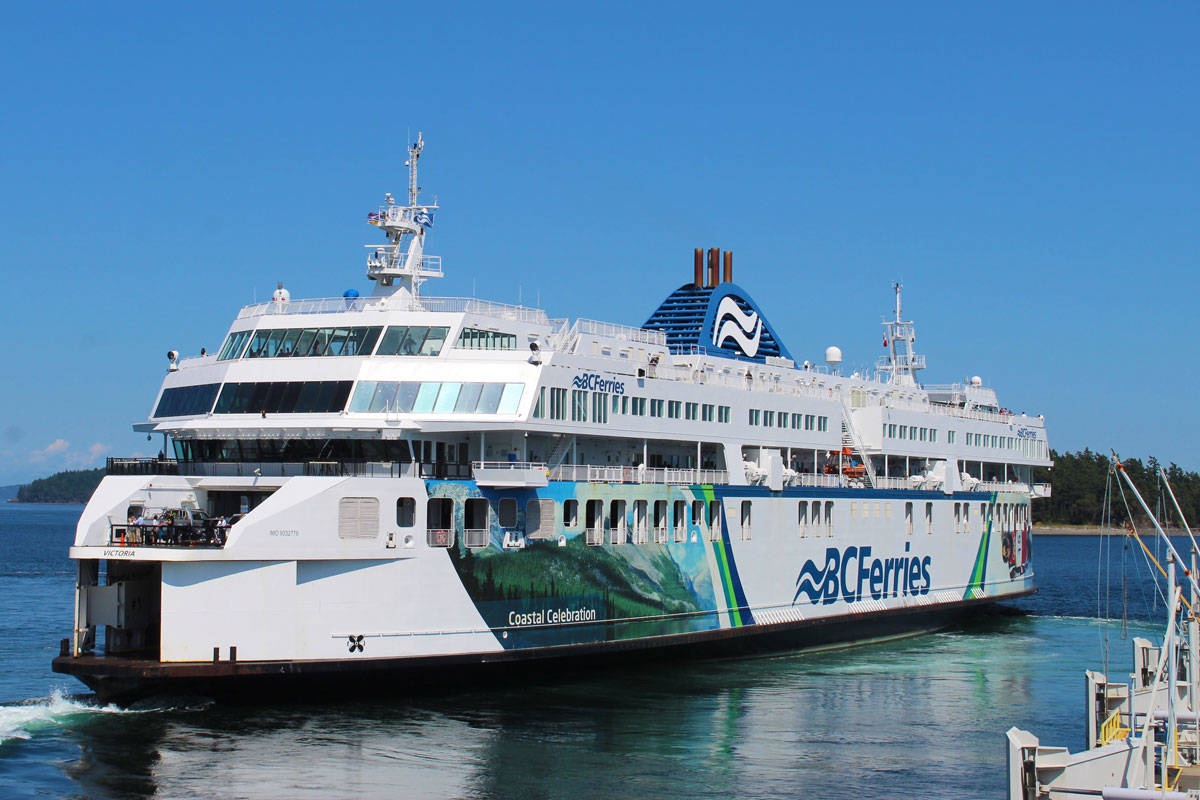 BC Ferries was up and running again on Saturday morning after high winds caused 25 sailing cancellations on Friday. (Devon Bidal/News Staff)