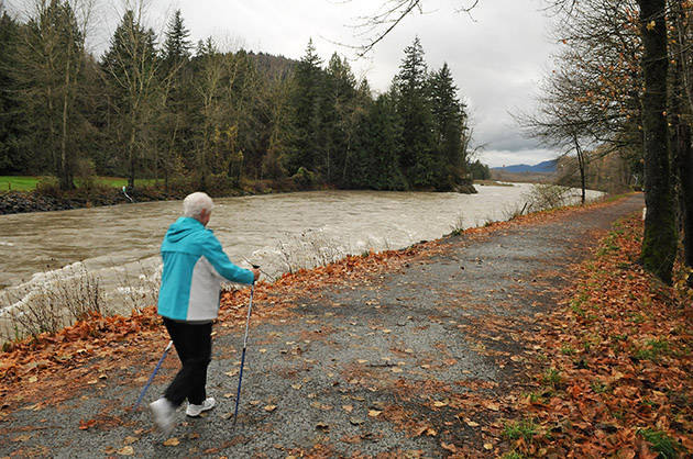 Chilliwack Search and Rescue officials are warning people to stay back from the fast moving Chilliwack-Vedder River right now. (Jenna Hauck/ Progress file)