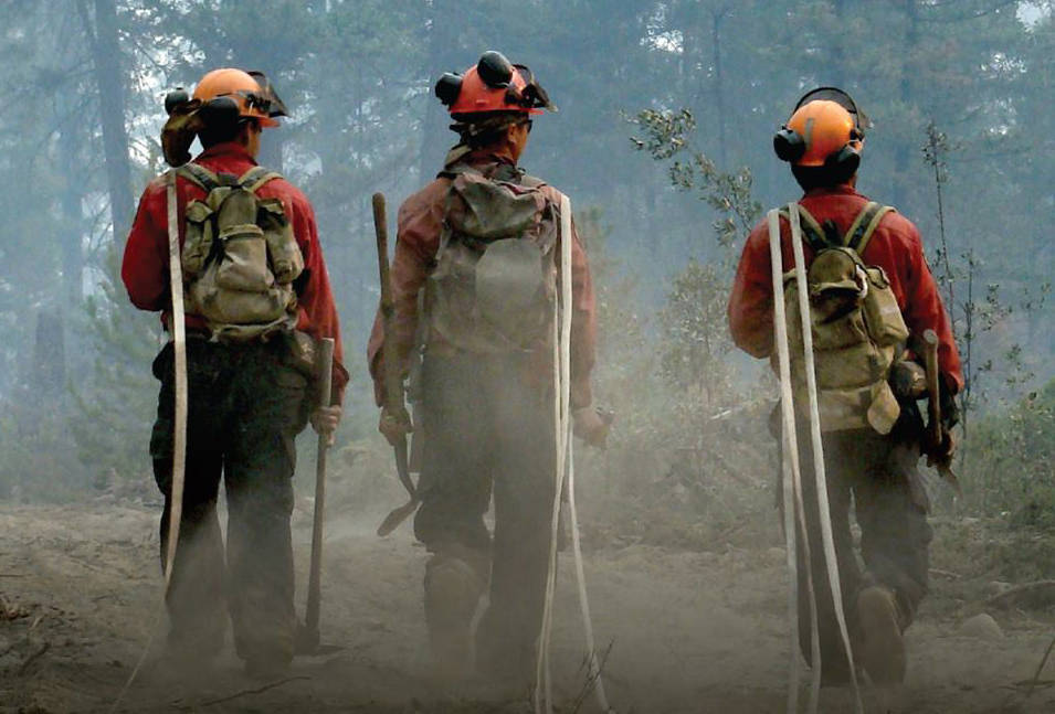 Firefighters with the Northwest Fire Centre in action. B.C. Wildfire Service photo