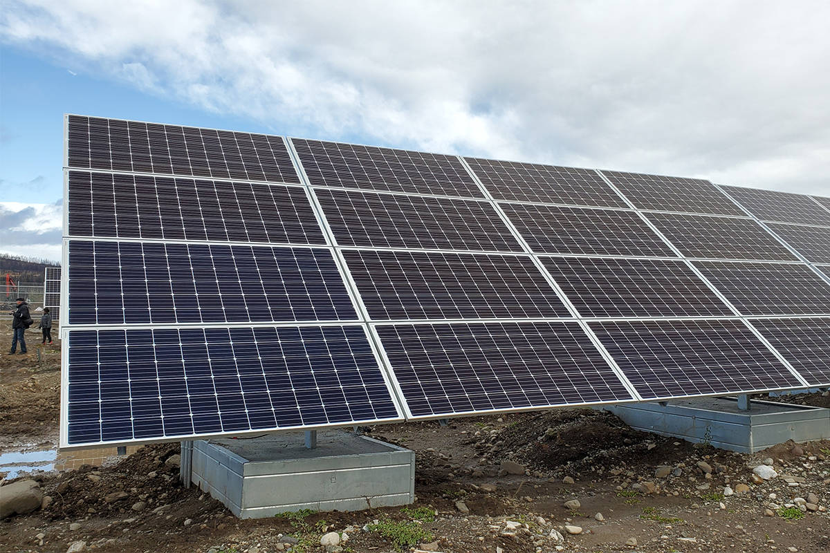 There are 3,455 panels over 16 sections with 216 panels in each section for the 1.25 megawatt solar farm near Williams Lake. (File photo)