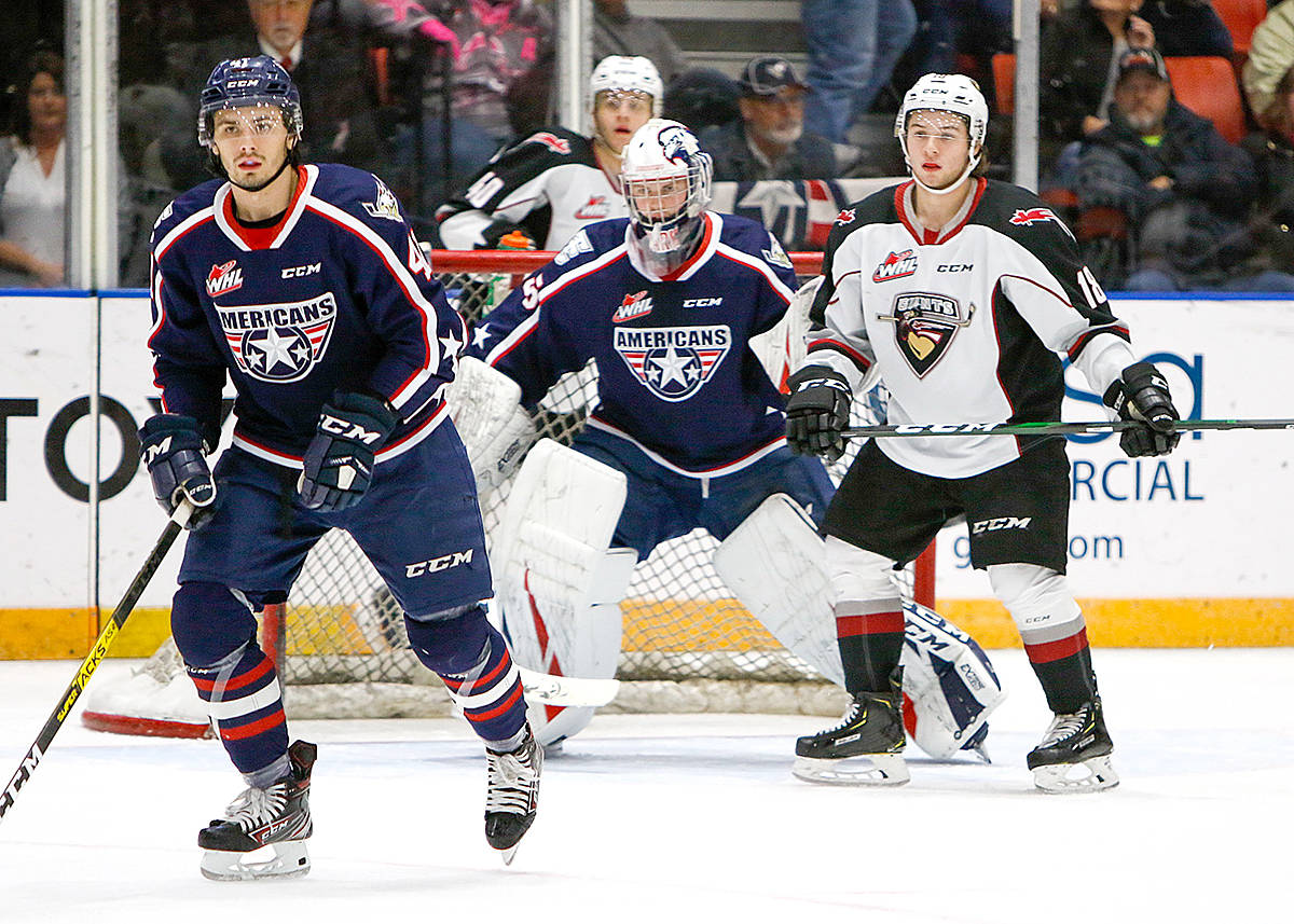 Giants down Americans Saturday night in Washington. (Judy Simpson/Special to the Langley Advance Times)