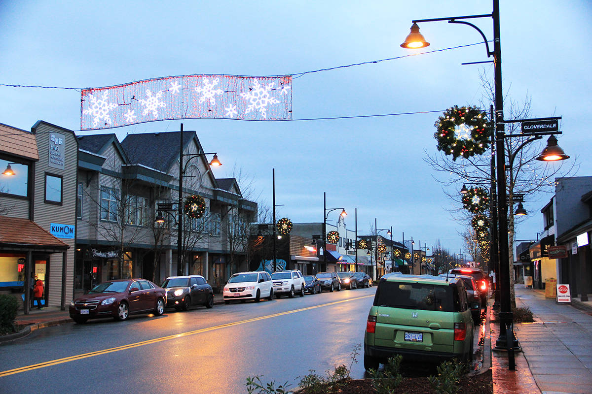 The annual Ladies' Night Out shopping event returns to downtown Cloverdale's 176 Street Nov. 28. (Photo: Malin Jordan)