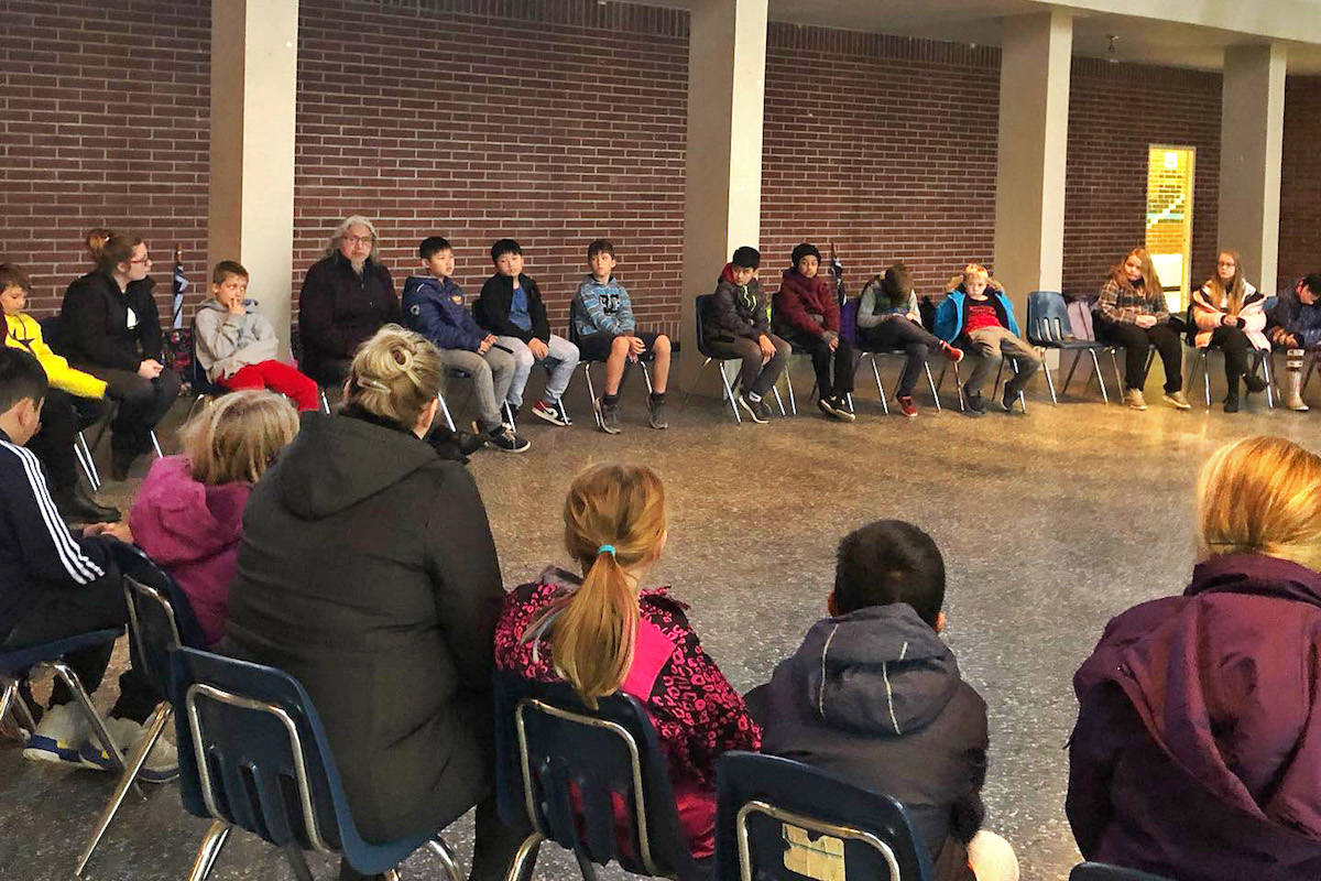 Shortreed Elementary School's Grade 5 students recently went on a field trip to St. Mary's Indian Residential School in Mission, which was built in 1861 and closed in 1984, after nearly two decades of boarding Aboriginal children. (Shortreed Elementary/Special to the Aldergrove Star)