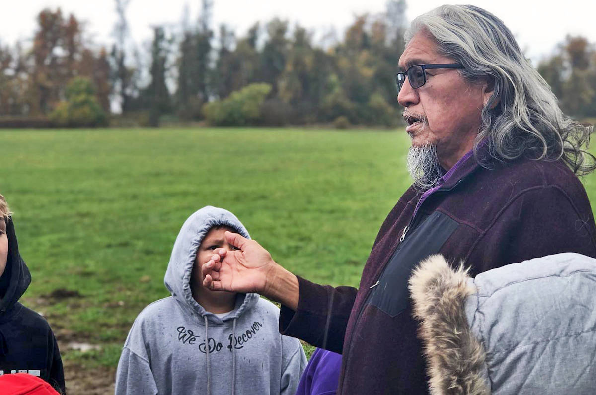 Cultural advisor Sonny McHalsie – whose mother was forced into attending the residential school – led the school group through a tour of its facilities and revealed bits of his personal journey. (Shortreed Elementary/Special to the Aldergrove Star)