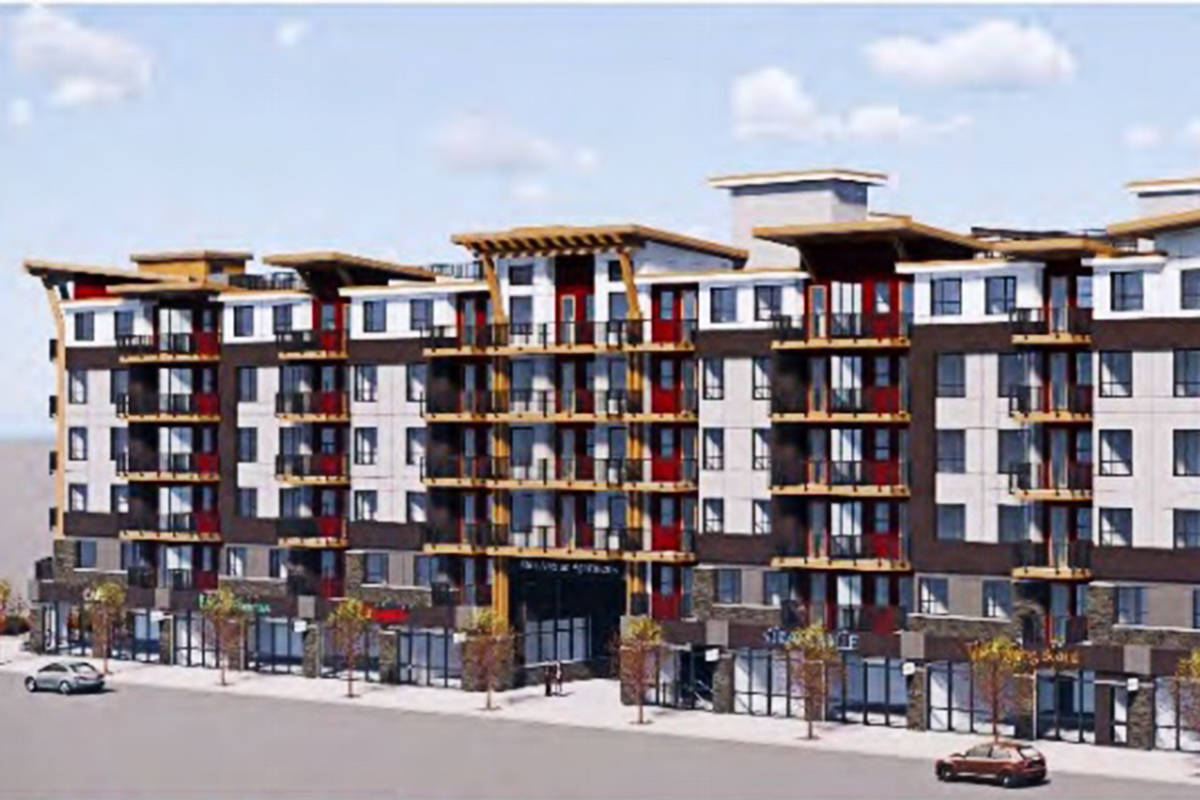 One block of the proposed rental complex on 86th Avenue. (Langley Township)