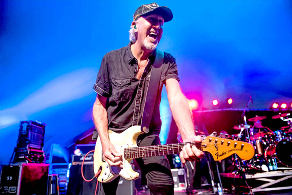 Langley resident and co-founder of the band Trooper, Brian Smith, wins inaugural Fraser Valley Music Lifetime Achievement Award. (Rob Porter/Special to the Langley Advance Times)