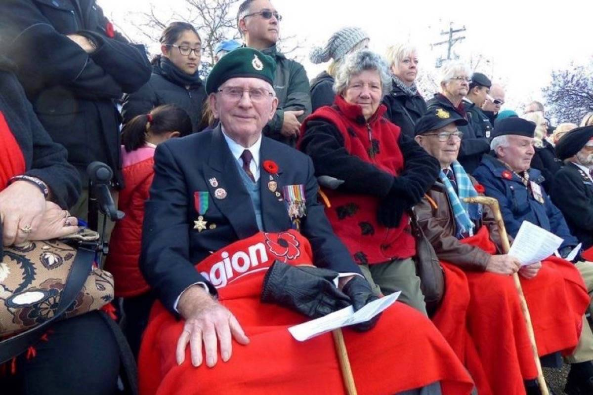 Reginald Wise is seen at a Remembrance Day ceremony. Wise says the emotional cost of war is a story that needs to be told. (Photo: Submitted)