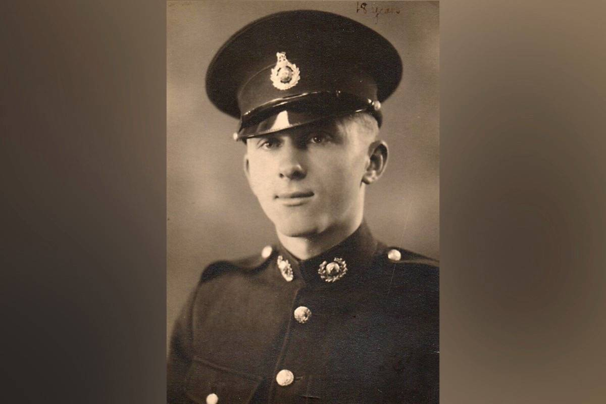 Reginald Wise is seen in 1942, shortly after he joined the Royal Marines. (Photo courtesy Reginald Wise)
