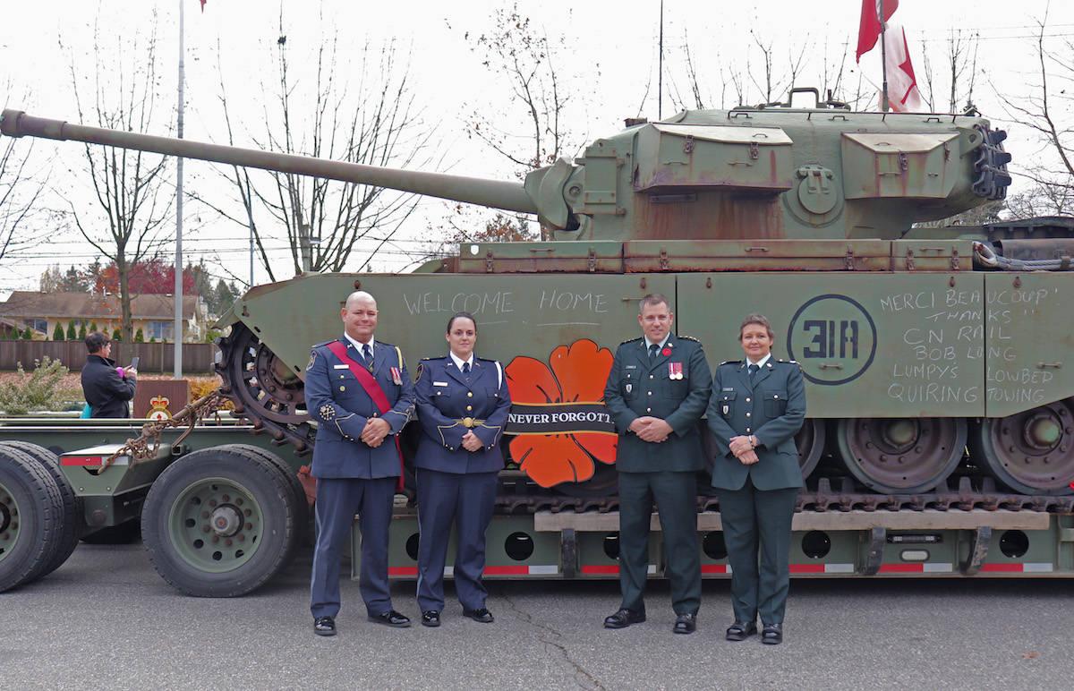 Aldergrove sees Centurion tank, tears, and war veterans march