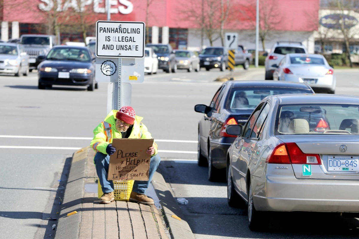 Maple Ridge council adopted anti-aggressive begging bylaw, Tuesday. (THE NEWS/files)