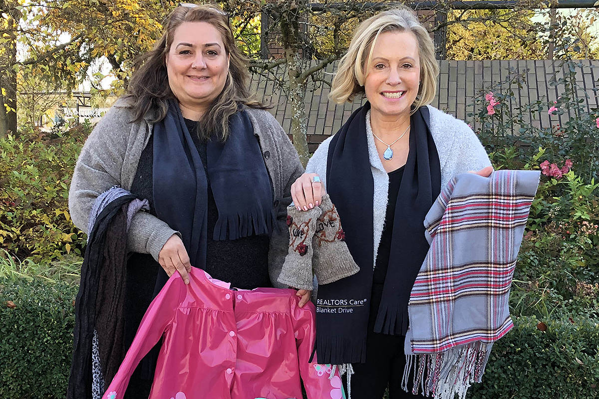 Langley volunteers Yvonne Wysocki and Julia Greene will be collecting items for the Realtors Cares drive. (Special to the Langley Advance Times)