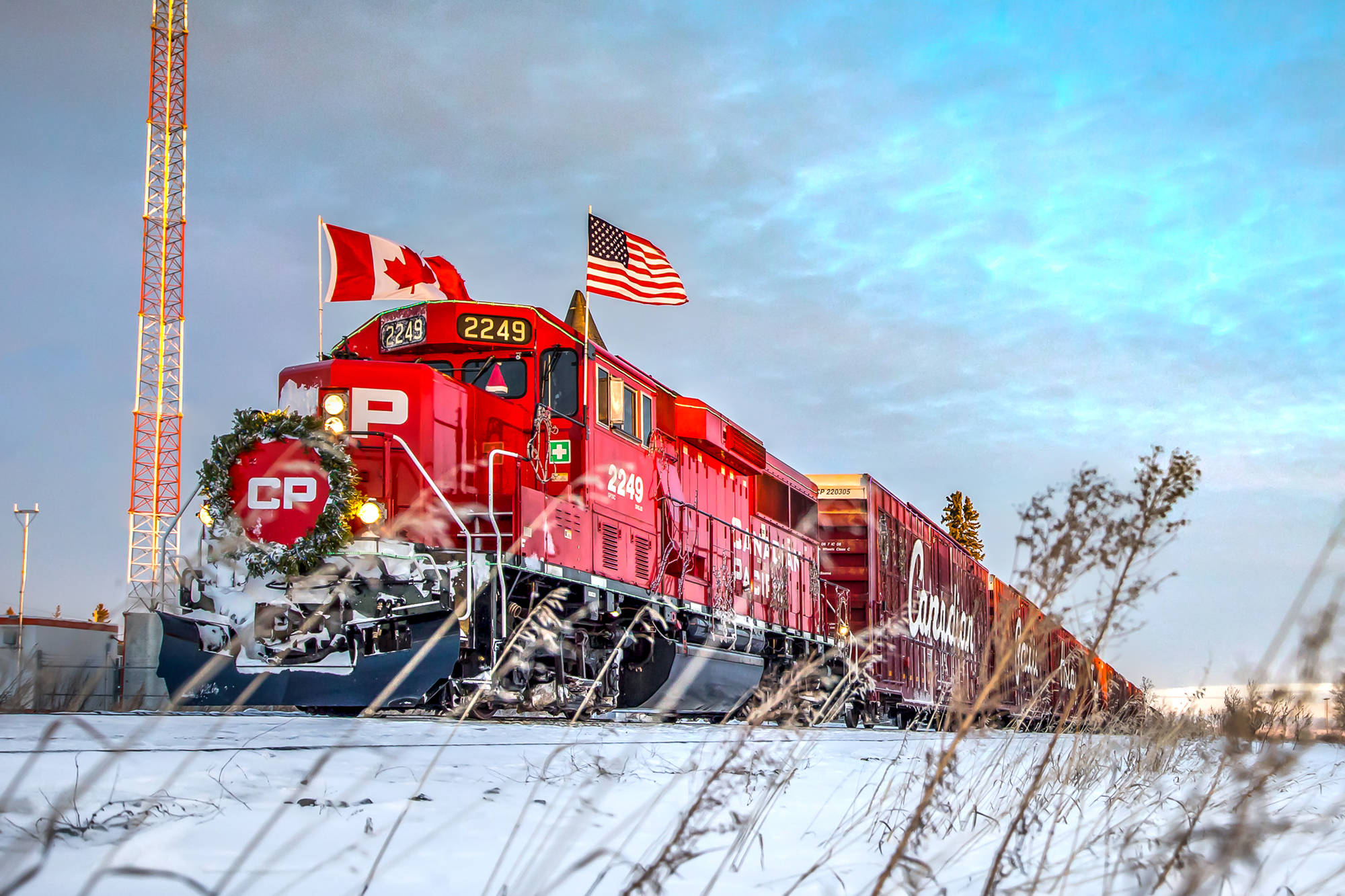 CP Rail Holiday Trains travels across Canada to raise awareness, funds and food for Canadian food banks. This year, the holiday train arrives in the Shuswap on Dec. 14. (Photo contributed)