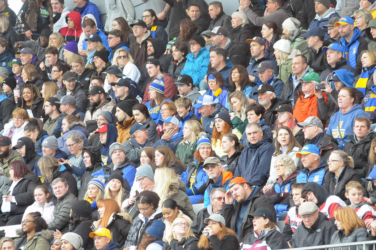 Fans packed the stands. (Dan Ferguson/Langley Advance Times)
