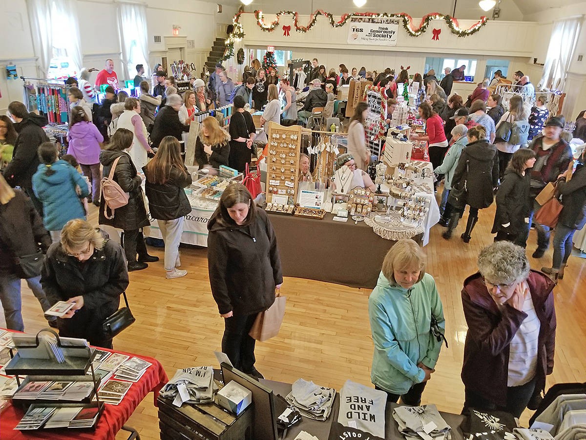 Rain may have been a blessing in disguise for the Thinking Generously craft fair and fundraiser, on Sunday, Nov. 17 at the Fort Langley community hall. (Dan Ferguson/Langley Advance Times)