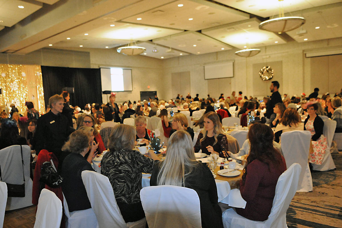 A sellout crowd of 500 people attended the Thanks for Caring – A Christmas Tea Fundraiser in Langley. (Black Press photo)
