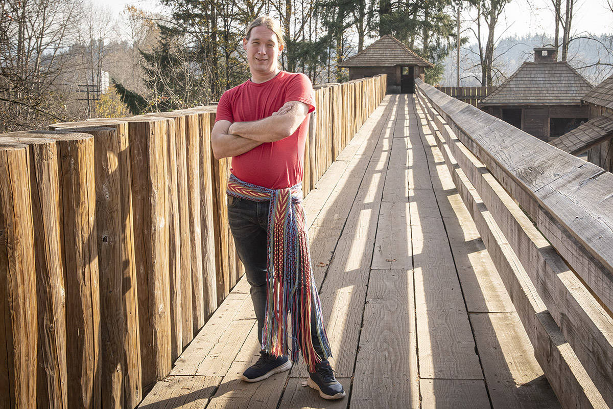 Pat Calihou, a Métis craftsman, will construct a 40 foot York boat at Fort Langley Historic Site over the next few months. (Parks Canada/Special to the Langley Advance Times)