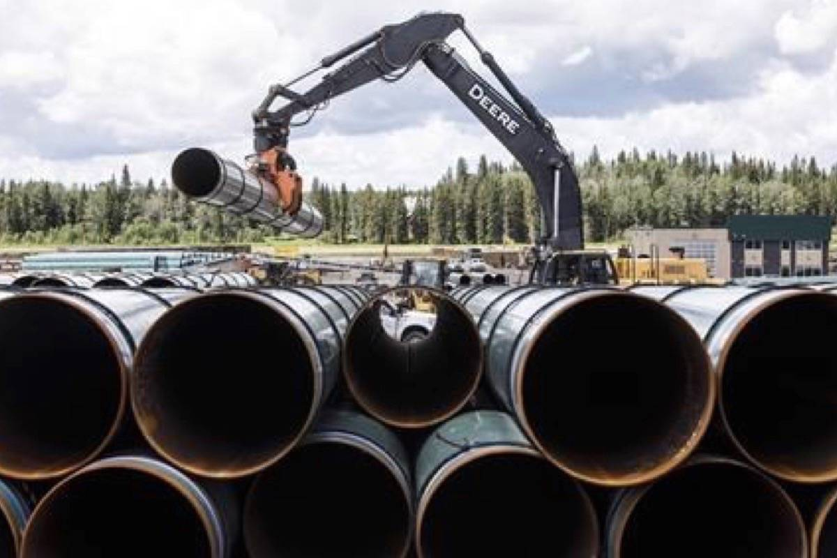 The Trans Mountain pipeline received $320 million in subsidies from the Canadian and Alberta governments in the first half of 2019 according to a Canadian Press story on Nov. 19, 2019. (Photo by THE CANADIAN PRESS)