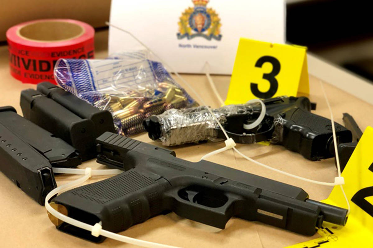 File photo of a Glock 34s seized by North Vancouver RCMP. (RCMP file)